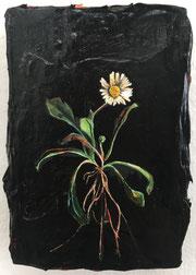 ANDREA DAMP, Margritli,  2019, Öl und Acryl auf Holz, 15 x 10 cm, € 600,--
