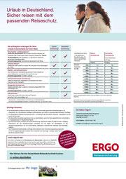Preise für Reiseversicherung für Urlaub in Deutschland, Leistungen für Deutschland-Reiseschutz