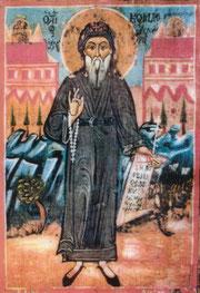 Icona popolare di san Kosmas d'Etholia (XVIII° sec.)