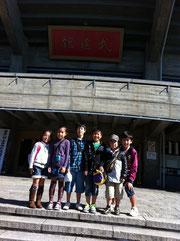 日本武道館前で