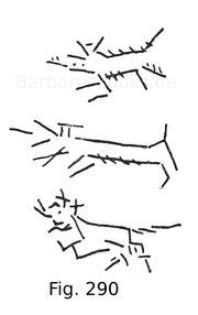 Fig. 290. Formen von Passauer Wolfszeichen, graviert und mit Messing eingelegt. 14. und 15. Jahrhundert.