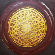 Soul Healing Art by mondavid, Monika David, Kraftbild  goldene Blume des Lebens