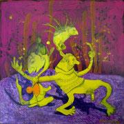 """Queen of Dutt"" Acryl auf LW 40x40 (03.09.2010)"