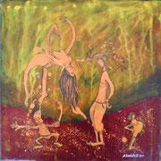"""""""Beugehaft"""" Acryl auf LW 40x40 (16.11.2010)"""