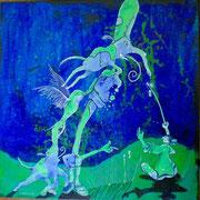 """Blaupause"" Acryl auf LW 40x40 (16.10.2010)"