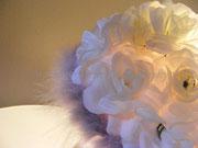 LB001 particolare rose di tessuto