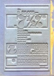Bis S 30.000.- zu 7,5% Zinsen. Z Anschaffungskredit Zentralsparkasse Traimer 1965 (um) Klischee