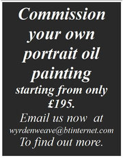 your own personal pagan portrait oil painting of YOU or YOURS from £195.