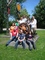 Gute Stimmung und intensive Projektarbeit im Trainingszentrum der Deutschen Bahn in Regensburg, Drei Tage Projektmanagement, Juni 2012