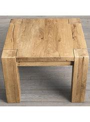 Tavolino rustico in castagno