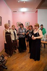После концерта: Марина Андреева, Рамазанова Надежда, Татьяна Суворова, Татьяна Вымятнина , Ника Рябчиненко