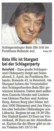 """(""""Lübecker Nachrichten"""" (Ausgabe Stormarn) - 03. April 2014)"""