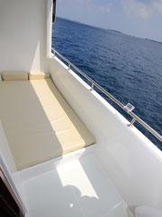Balkon mit Liegefläche