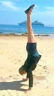 Annelie in Monterey, Kalifornien.