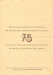Bild: Teichler 1952 Wünschendorf Festprogramm