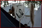 Unser Banner - zum erstenmal gestellt in Oppenheim 2011