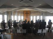 ◆1月の祈りの集会のようす。