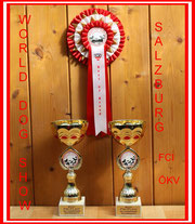 "FCI World Winner 2012. Unsere Großspitz Hündin ""Anka"" wird Welt Jugend Sieger. Ihr Vater ""Yanosch"" Vize Welt Sieger. Bereit 2011 wurde er in Paris Vize Welt Sieger."