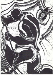 """Hansjürg Brunner, Ill.""""Schwarze Spinne"""" 1968"""