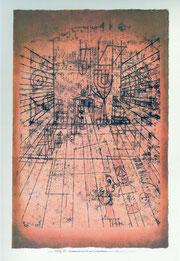 Paul Klee, Zimmerperspektive mit Einwohnern 1921