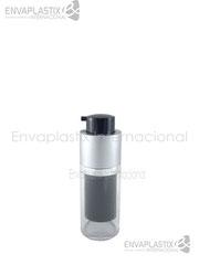 botellas airless negro, envases airless, envases de acrílico, envases cosméticos, envases para maquillaje