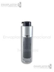 botellas airless negra, envases airless negro, envases de acrílico, envases cosméticos, envases para maquillaje