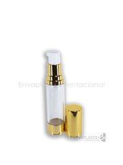 botellas airless, envases airless de acrilico, envase airless dorado