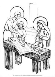 Coloriage Sainte Famille.Vie Cachee Le Chemin Du Ciel