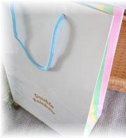 レインボー柄 オリジナル手提げ袋