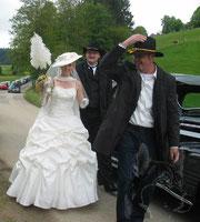 Eintreffen des Brautpaares