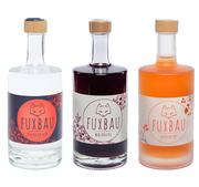 Fuxbau Vogelbeere, Fuxbau Distilled Gin, Gin Angebot, Gin Steiermark, steirischer Gin, Gin Oststeiermark, Gin mit Fichtenwipferl, Vogelbeeren, Zirbenzapfen