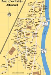 Plan de la zone Albasud