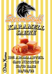 Karamell-Sahne Aroma, Cremiges Caramel, Caramele mit Sahne Aroma, Karamell