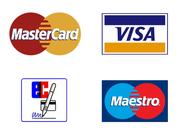 Wir akzeptieren MasterCard, VISA, EC- und Maestro Kartenzahung in unserem Geschäft.