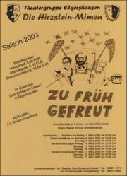 Zu früh gefreut (2003)