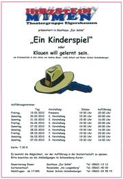 """""""Ein Kinderspiel"""" oder Klauen will gelernt sein (2010)"""