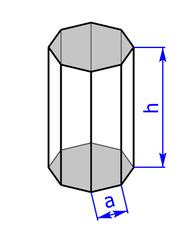 Prisma mit Grundflaeche eines Achtecks (Achtkant)
