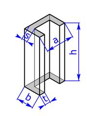 Prisma mit Grundflaeche eines C- bzw. U-Profils