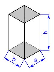 Prisma mit Grundflaeche eines Rechtecks