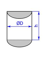 Prisma mit Grundflaeche eines Halbkreises