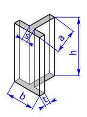 Prisma mit Grundflaeche eines T-Profils