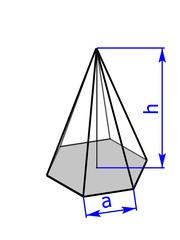 6-seitige Pyramide