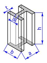 Prisma mit Grundflaeche eines I- bzw. H-Profils