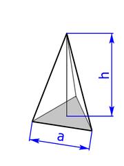 3-seitige, gleichseitige Pyramide