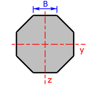 cross sectional area of a octagon/eight-sided figure