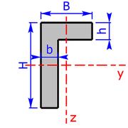 Querschnitt eines L-Profil