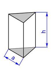 Prisma mit Grundflaeche eines gleichseitigen Dreiecks