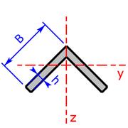 L-Profil um 45° gedreht