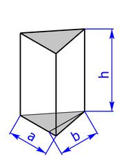 Prisma mit Grundflaeche eines gleichschenkeligen Dreiecks
