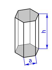 Prisma mit Grundflaeche eines Sechsecks (Sechskant)